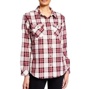 NWT Sanctuary Red Boyfriend for Life Plaid Shirt